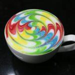 hình ảnh ly cafe brainbow latte