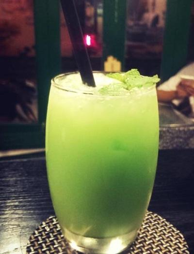 hình ảnh mocktail trà xanh