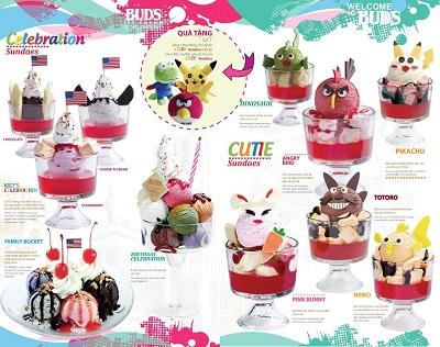 hình menu kem