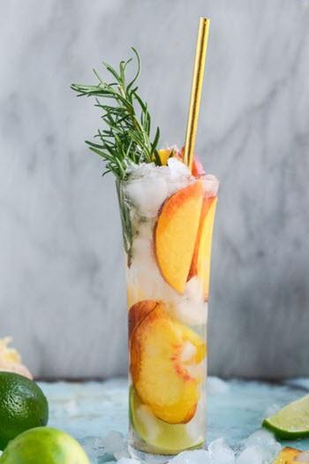 hình cocktail đào