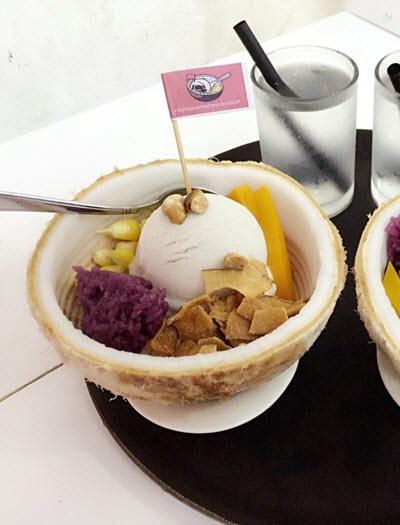 hình kem xôi dừa