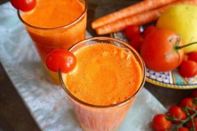 hình sinh tố cà rốt và cà chua