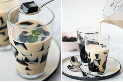 hình trà sữa thạch rau câu