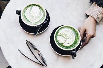 matcha latte rất được yêu thích