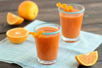 hình sinh tố cam cà rốt