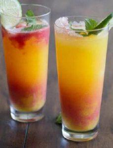 Cách Pha Mocktail Cam Đào Ngon Mát