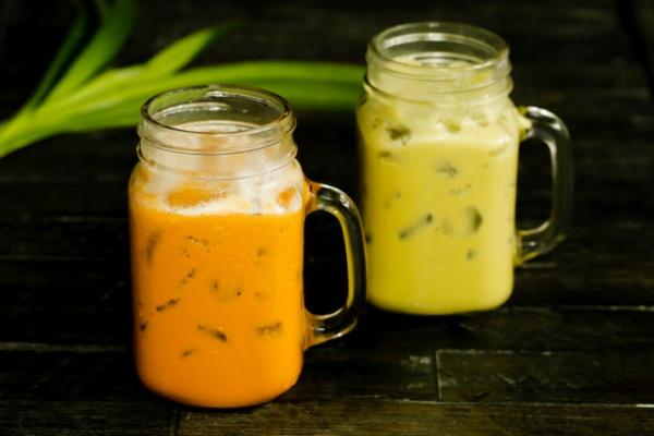 Trà sữa Thái xanh và đỏ