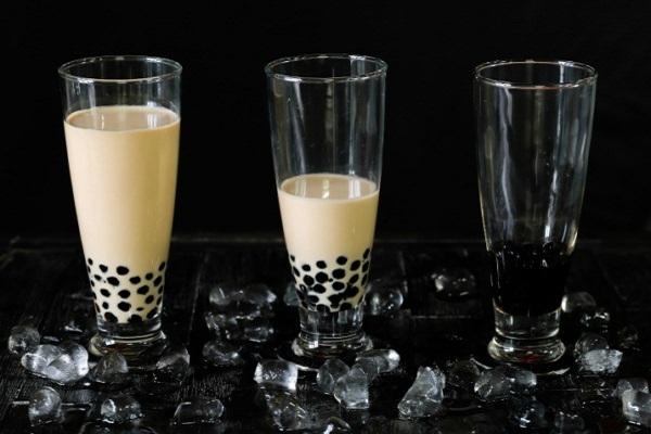 hình trà sữa trân châu đen