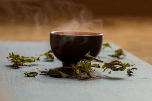 Hình lá trà đen