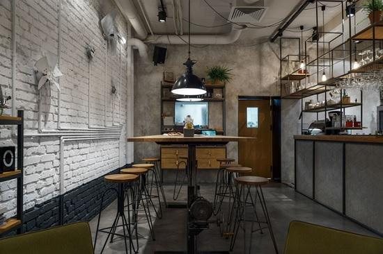 hình quán cafe công nghiệp