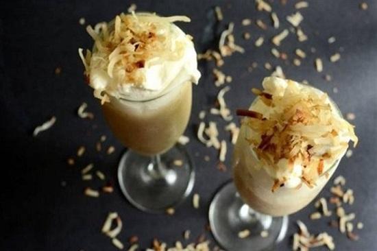 hình smoothie kem dừa thái
