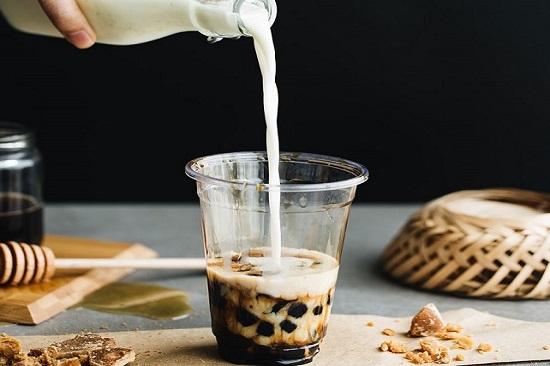 hình trà sữa nhà làm