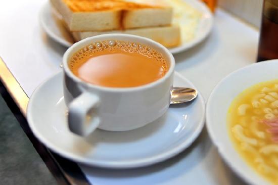 hình trà sữa nóng