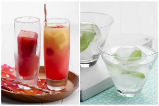 nước đá còn được sáng tạo giúp trang trí đồ uống