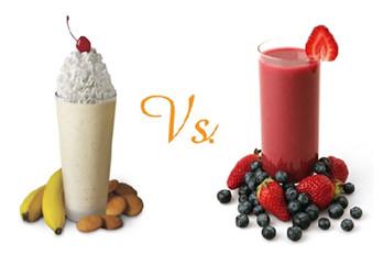 milkshake và smoothie