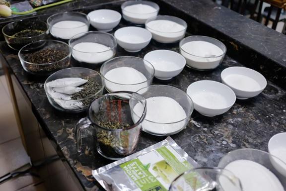 Nguyên liệu chuẩn bị trước khi thực hành pha chế trà sữa